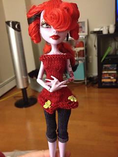 ravelry garter yoke dress for monster high teen doll