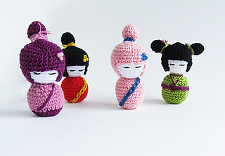 Studio ami — ~Chinese kokeshi doll pattern!~ So this is the... | 222x320
