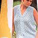Lacy Sleeveless Cardigan /Vest, 1985 pattern