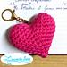Porte-clé coeur pattern