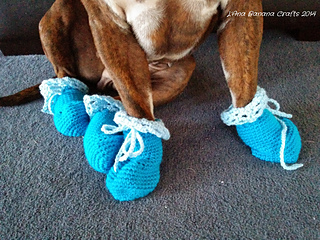 Crochet Dog Booties Pattern By The Knitting Scientist Ravelry