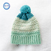Snow Drops Slouch Hat pattern
