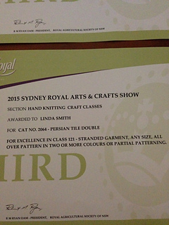 Sydney Show 2015 prize card