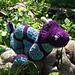 Ogie Jr. the African Flower Ogopogo pattern