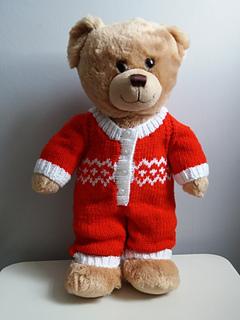 Ravelry: Teddy bear onesie pattern by linda Mary