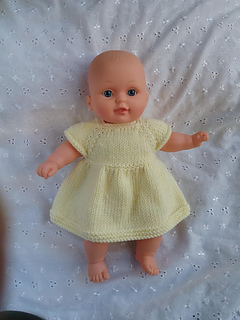 """Ravelry: 12"""" baby doll dress pattern by linda Mary"""