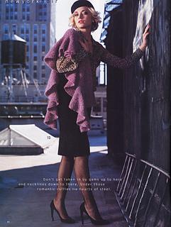 Ruffled Edge Wrap Vogue Knitting