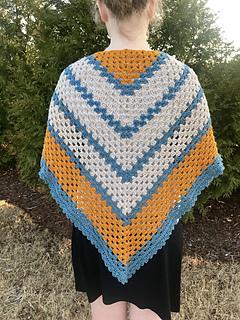 A Sunny Day Triangle Shawl pattern by Angela Plunkett