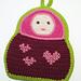 Matryoshka Russian Nesting Doll Potholder pattern