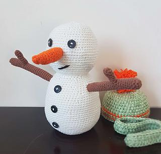 Crochet pattern snowman. Amigurumi snowman, plush snowman tutorial ... | 306x320
