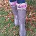 Shells & Posts Boot Cuffs pattern