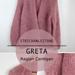 GRETA Oversize Raglan Cardigan mit Blende pattern