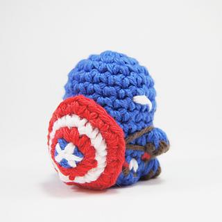crocheted captain america