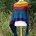 Biscotte Rainbow Shawl pattern