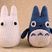 White and small Blue Totoro amigurumi pattern