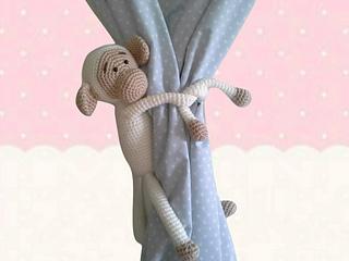 Amigurumi tie back,1 pcs Monkey curtain tie back,crochet animal ... | 240x320