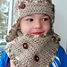 Aviator earflap baby hat and scarf pattern