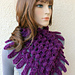 Easy Scarf Cowl Chunky Fringe pattern