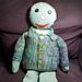 Sideways Sockyarn Baby Sweater pattern