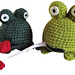 Frog tape measure and pincushion in one pattern