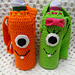 Monster Water Bottle Totes pattern