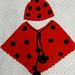 Lady Bug Beanie & Poncho pattern