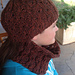 Chain Rib cowl and hat pattern
