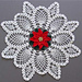 Poinsettia Pineapple Doily PA320 pattern