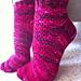 Holly Golightly pedicure socks pattern