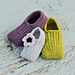 Knit-look Crochet Slippers (Newborn size 1 to Child size 12) pattern