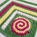 Dizzy Corner Afghan Square pattern