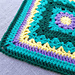 Mountain Wildflower Afghan Square pattern