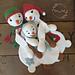 Melly Teddy Ragdoll Snowman Family pattern