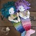 Melly Teddy Ragdoll Shelly & Sandy Mermaid pattern