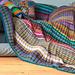 Streifendecke aus Wollresten pattern