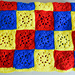 Checkerboard in Primary Colors Blanket pattern