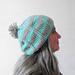 Aqua Ridge Slouchy Hat pattern