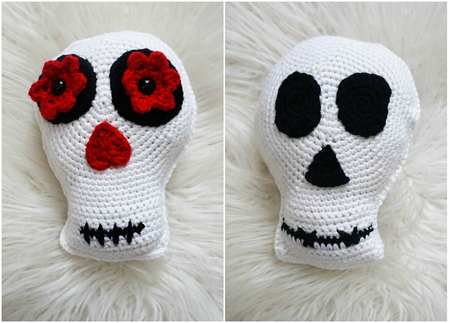 Crochet Simple Skull - Sugar Skull Reversible Softie Pattern ... | 460x640
