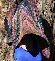 """THE WICKED KNITTAH, Yak Sock, in 5 colorways """"THREE SHAWLETTES JOINED"""""""
