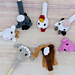 Pencil toppers farm animals pattern
