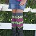 Fair Isle Leg Warmers pattern