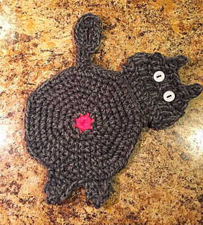Crochet Cat Potholder Pattern - Crochet 365 Knit Too | 320x288