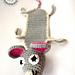 Bookmark Crazy Mouse / Mysz pattern
