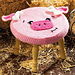 Farm Animal Stools: Pig pattern