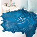Blue Mandala Throw pattern
