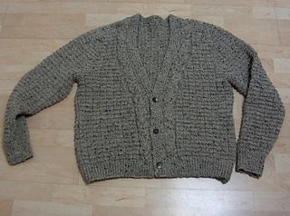 Ravelry: 4260-516 V-Neck Men's Irish Knit Cardigan pattern ...