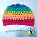 Rainbow slouchy hat pattern