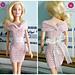 Fashion doll off the shoulder dress pattern
