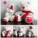 Amigurumi: Snowy Teddy and Daddy pattern