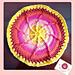 Sun wheel mandala pattern